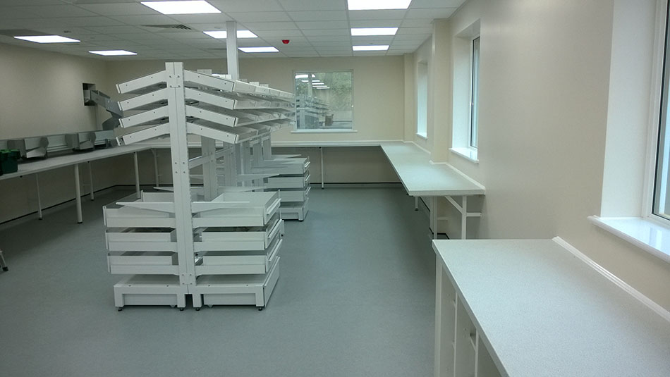 Y-Series Pharmacy Shelving and Work Areas